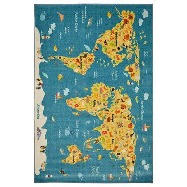 Karastan Prismatic 5' x 8' Multicolor Kids Area Rug, , large