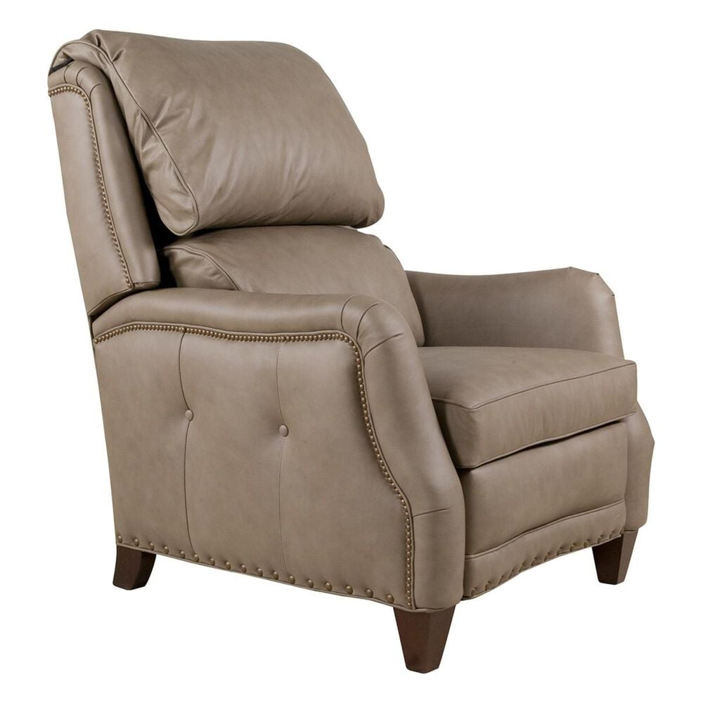 Hancock and Moore Redford Leather Push Back Recliner in Juno Taupe, , large