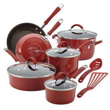 Rachael Ray Cucina Porcelain Enamel Nonstick 12-Piece Cookware Set, , large