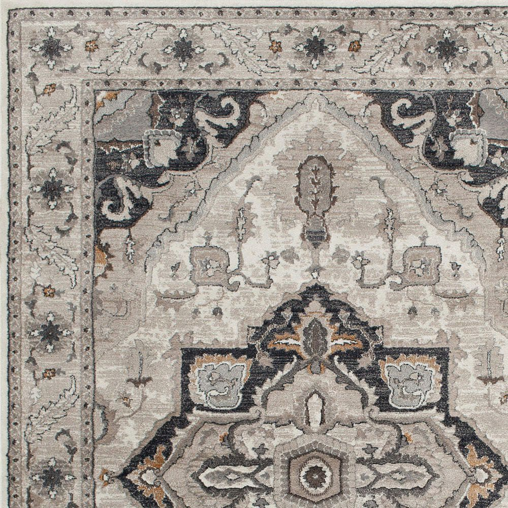 Central Oriental Adore Milla 9271WR 8' x 10' Whitecap, Greige and Orange Area Rug, , large