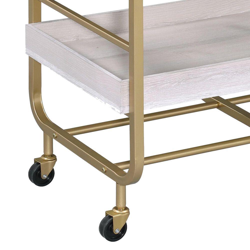 Gunnison Co. Vorrik Serving Cart in Gold/White, , large
