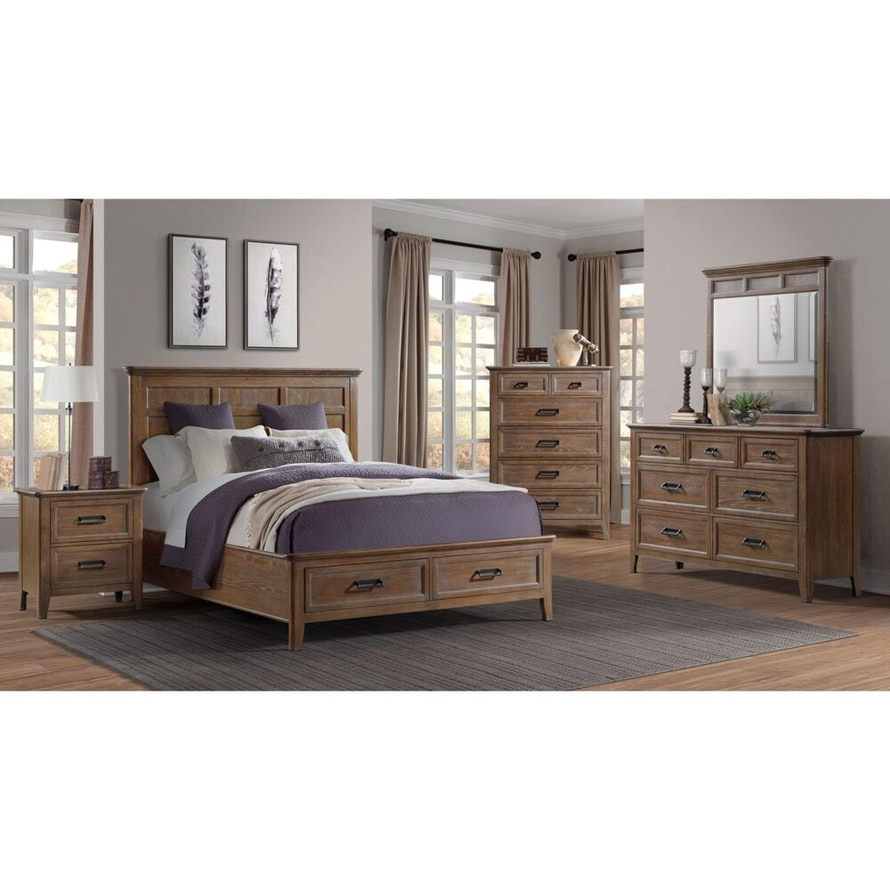 Hawthorne Furniture Alta 2 Drawer Nightstand with Outlets, , large