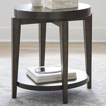 Belle Furnishings Penton Oval Chairside Table in Espresso, , large