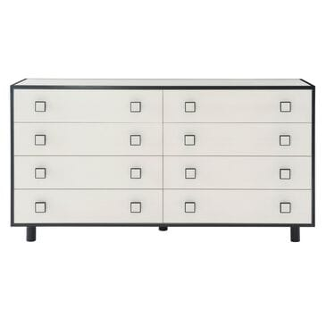 Bernhardt Silhouette Dresser in Eggshell and Onyx, , large