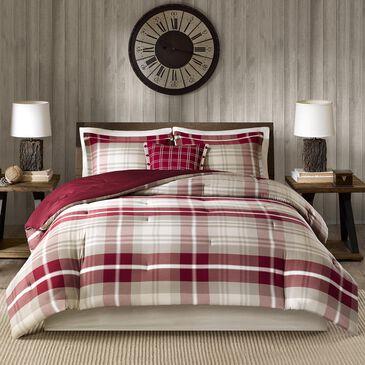 Hampton Park Sheridan 5-Piece Queen Comforter Set in Tan/Red, , large