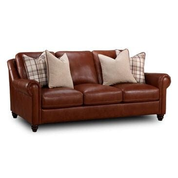 "Sienna Designs 91"" Leather Sofa in Chestnut, , large"