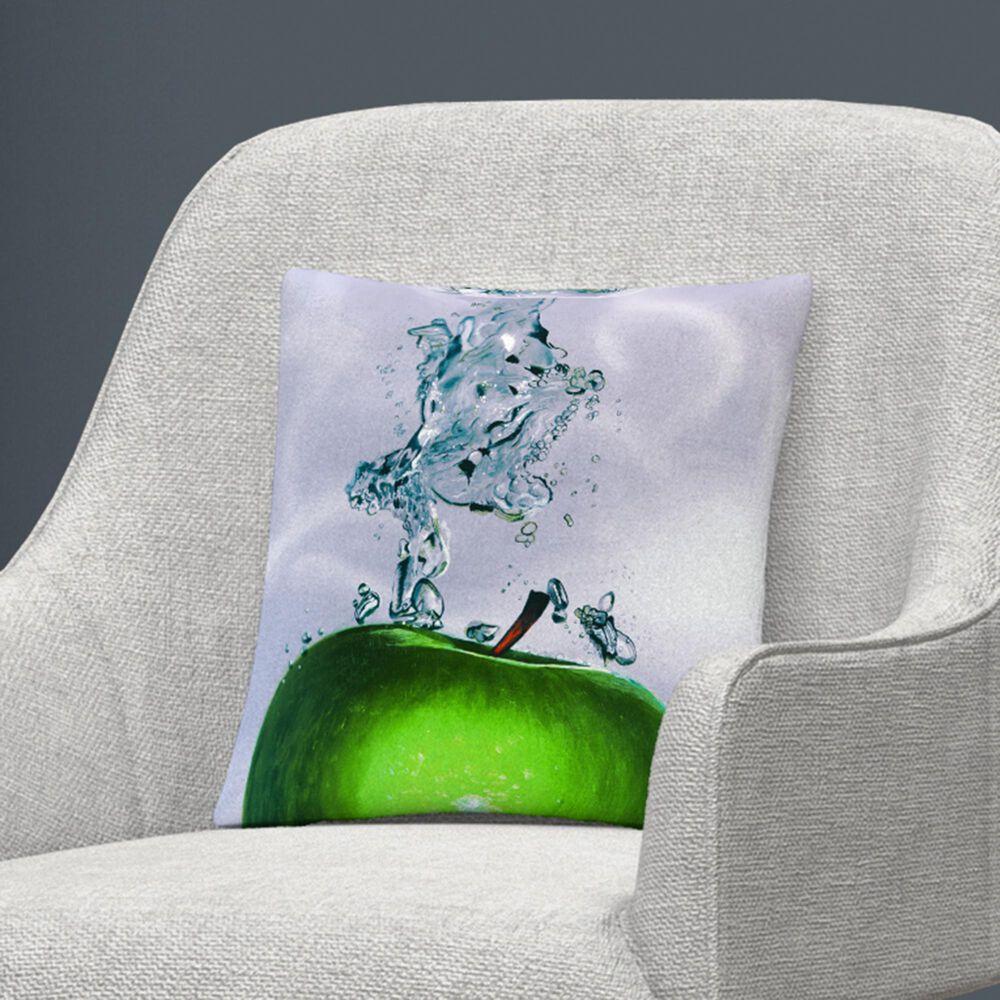 Timberlake Roderick Stevens 'Apple Splash II' 16 x 16 Decorative Throw Pillow, , large
