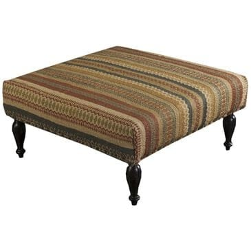 Surya Inc Upholstered Ottoman in Burnt Orange, Olive, Rust, , large