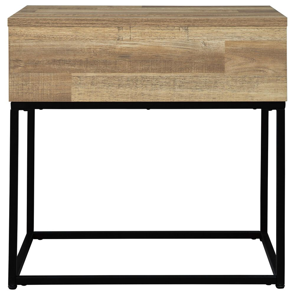 Signature Design by Ashley Gerdanet Rectangular End Table in Natural, , large