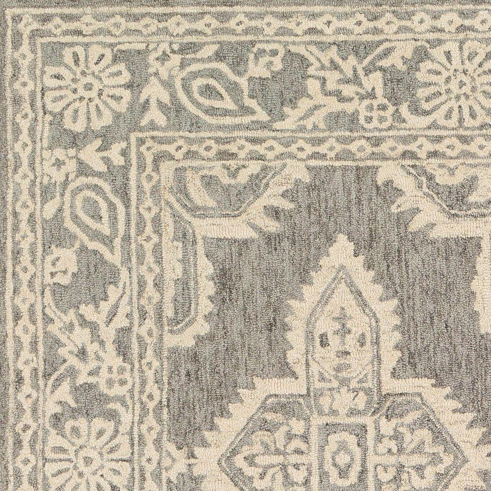 Surya Granada GND-2302 6' Round Medium Gray and Beige Area Rug, , large