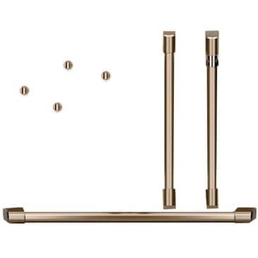 Cafe Handle and Knob Kit for Double Wall Oven in Brushed Bronze, , large