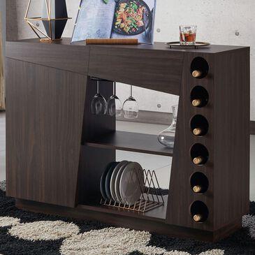 Furniture of America Walker Wine Rack Buffet in Wenge, , large