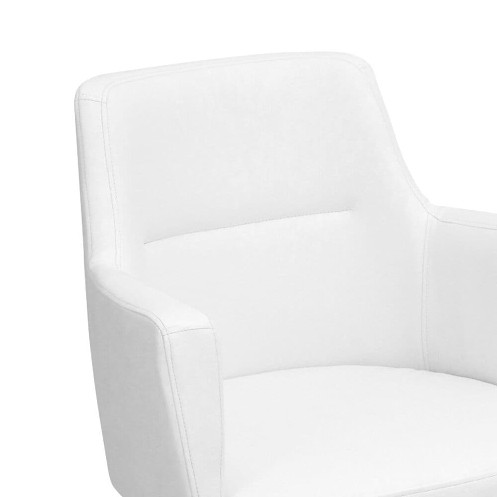 Lumisource Andrew Dining Chair in White/Chrome (Set of 2), , large