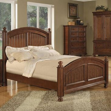 Bakersfield Cape Cod Queen Panel Bed in Chocolate, , large