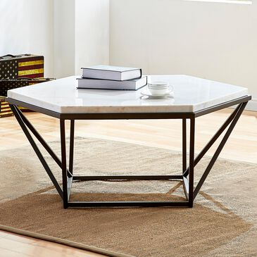 Steve Silver Cara Coffee Table in White, , large