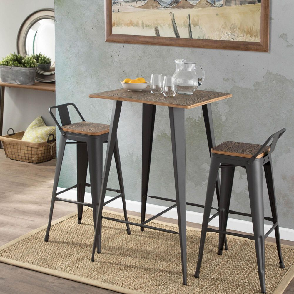 Lumisource Oregon Table in Brown/Grey, , large