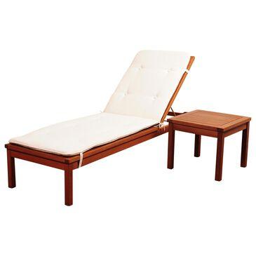 International Home Miami Amazonia Washburn 2-Piece Lounge Set with White Cushions, , large