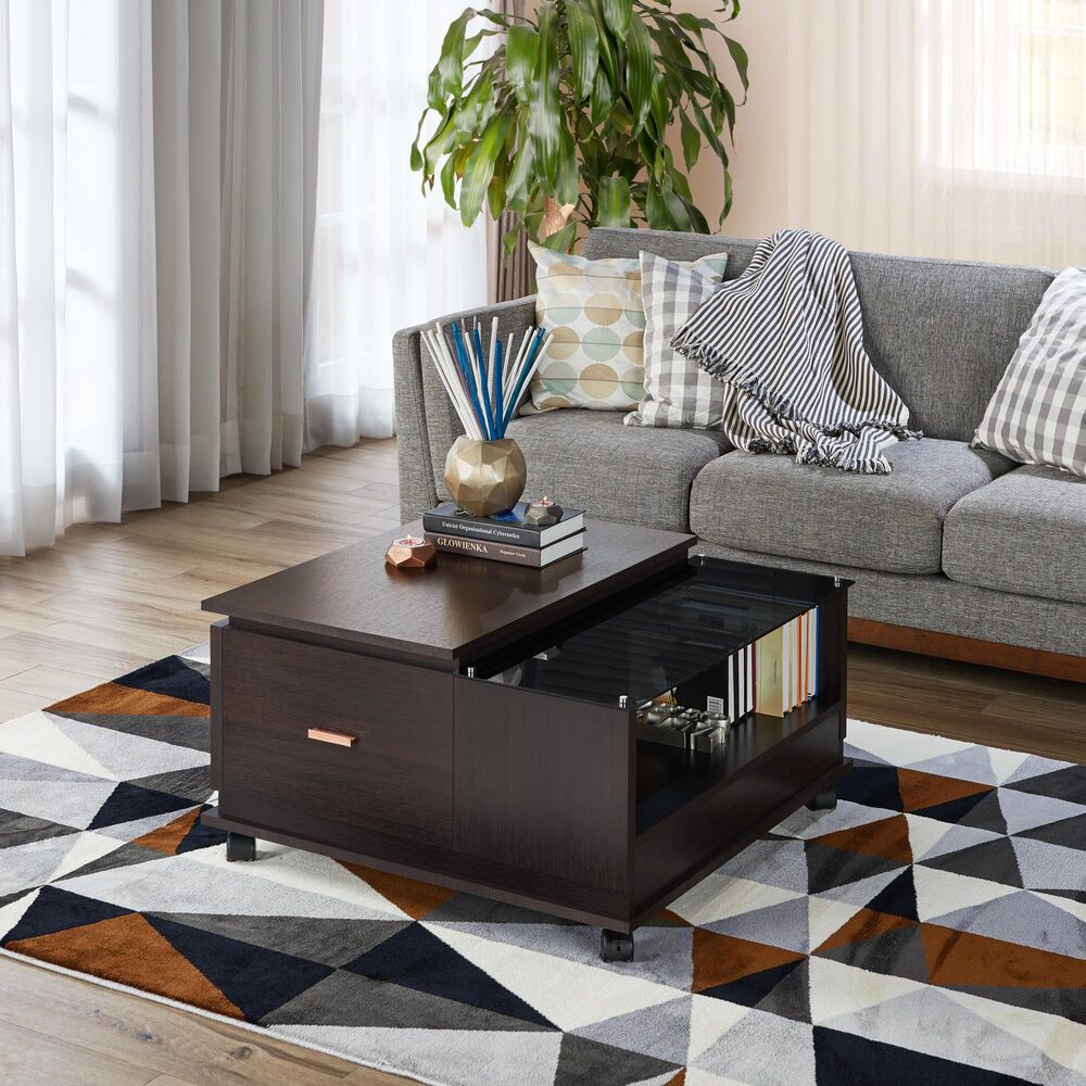 Furniture of America Molina Coffee Table in Espresso, , large