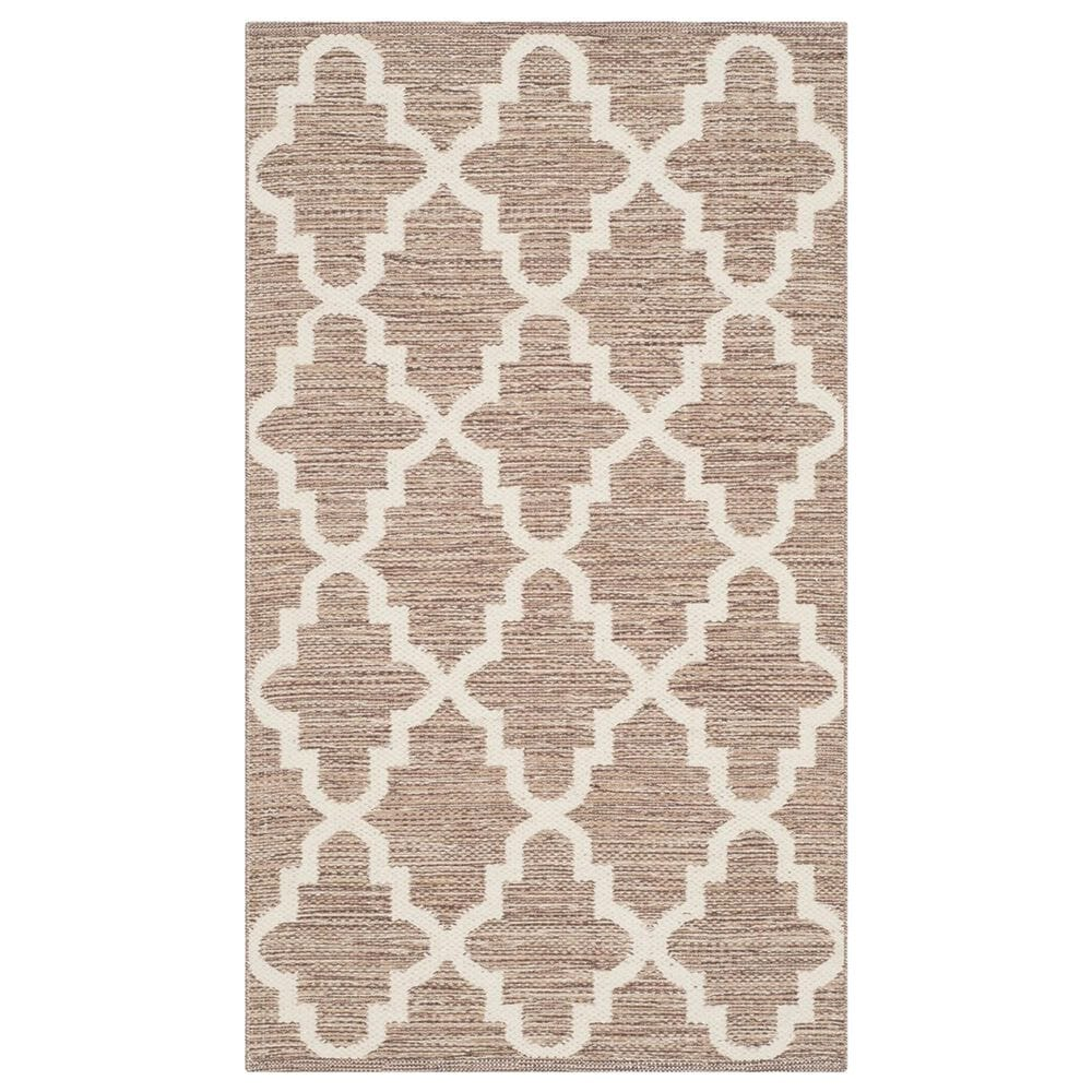 Safavieh Montauk MTK810 3' x 5' Beige and Ivory Area Rug, , large
