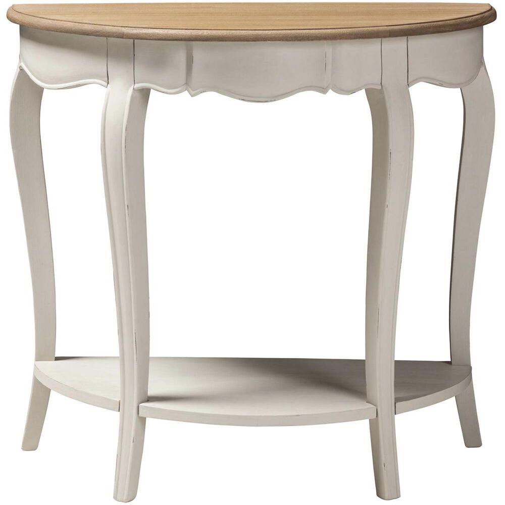 Baxton Studio Cordelia Console Table in White, , large