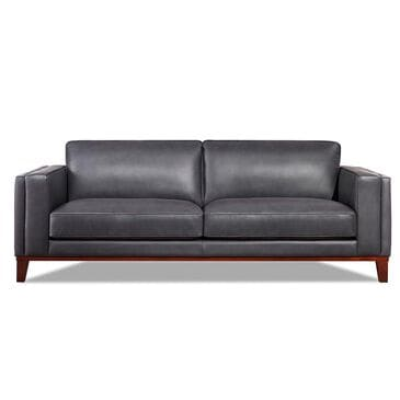 Back Nine Leather Avon Sofa in Steel Blue, , large