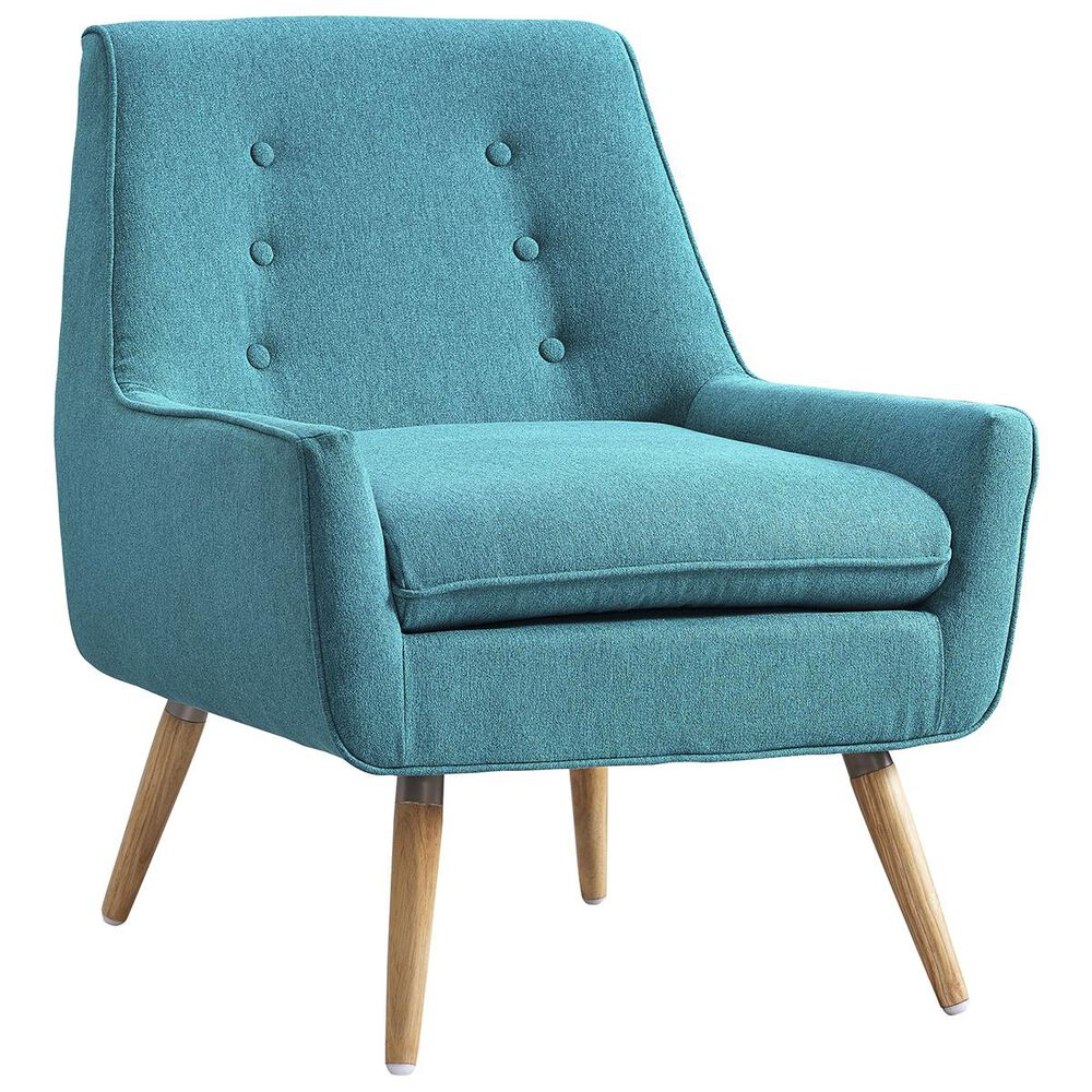 Linden Boulevard Trelis Accent Chair in Bright Blue, , large