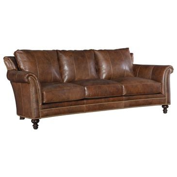 Bradington-Young Richardson Stationary Leather Sofa in Brown, , large