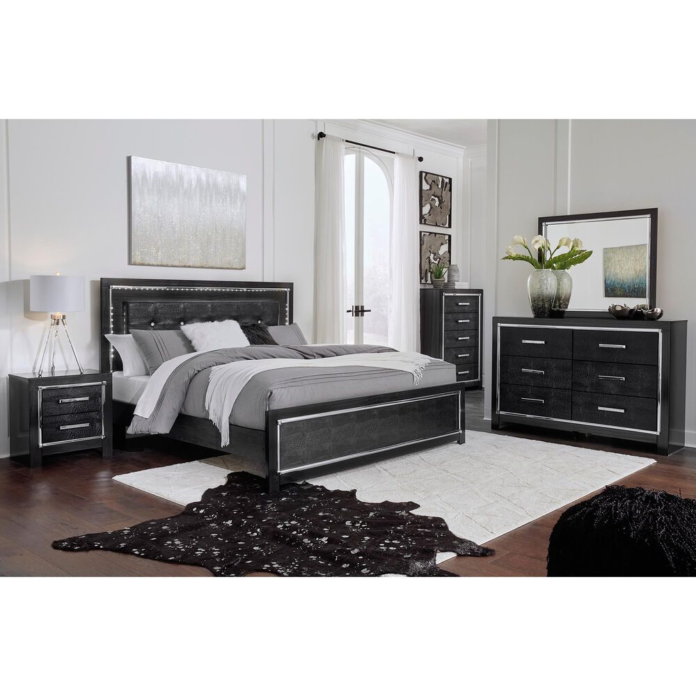 Signature Design by Ashley Kaydell 4 Piece King Bedroom Set in Dark Gray, , large