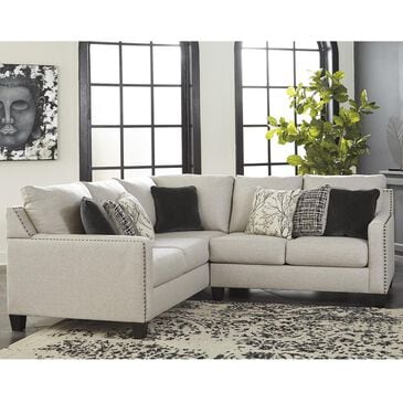 Signature Design by Ashley Hallenberg 2-Piece Left Arm Facing Sectional in Fog, , large