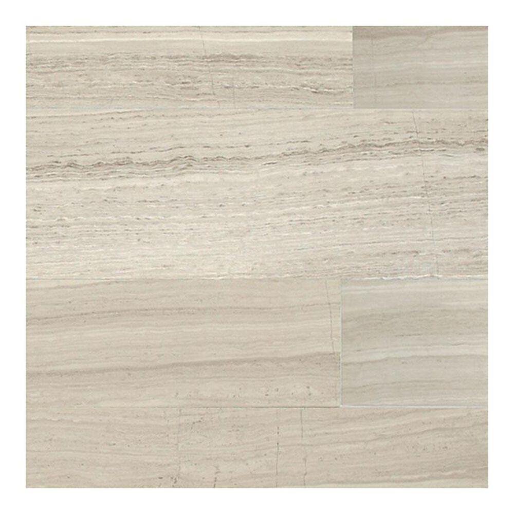 "Dal-Tile Limestone Polished Chenille White 4"" x 12"" Natural Stone Tile, , large"