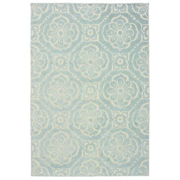 "Oriental Weavers Barbados 539L4 1'10"" x 7'6"" Blue and Ivory Runner, , large"