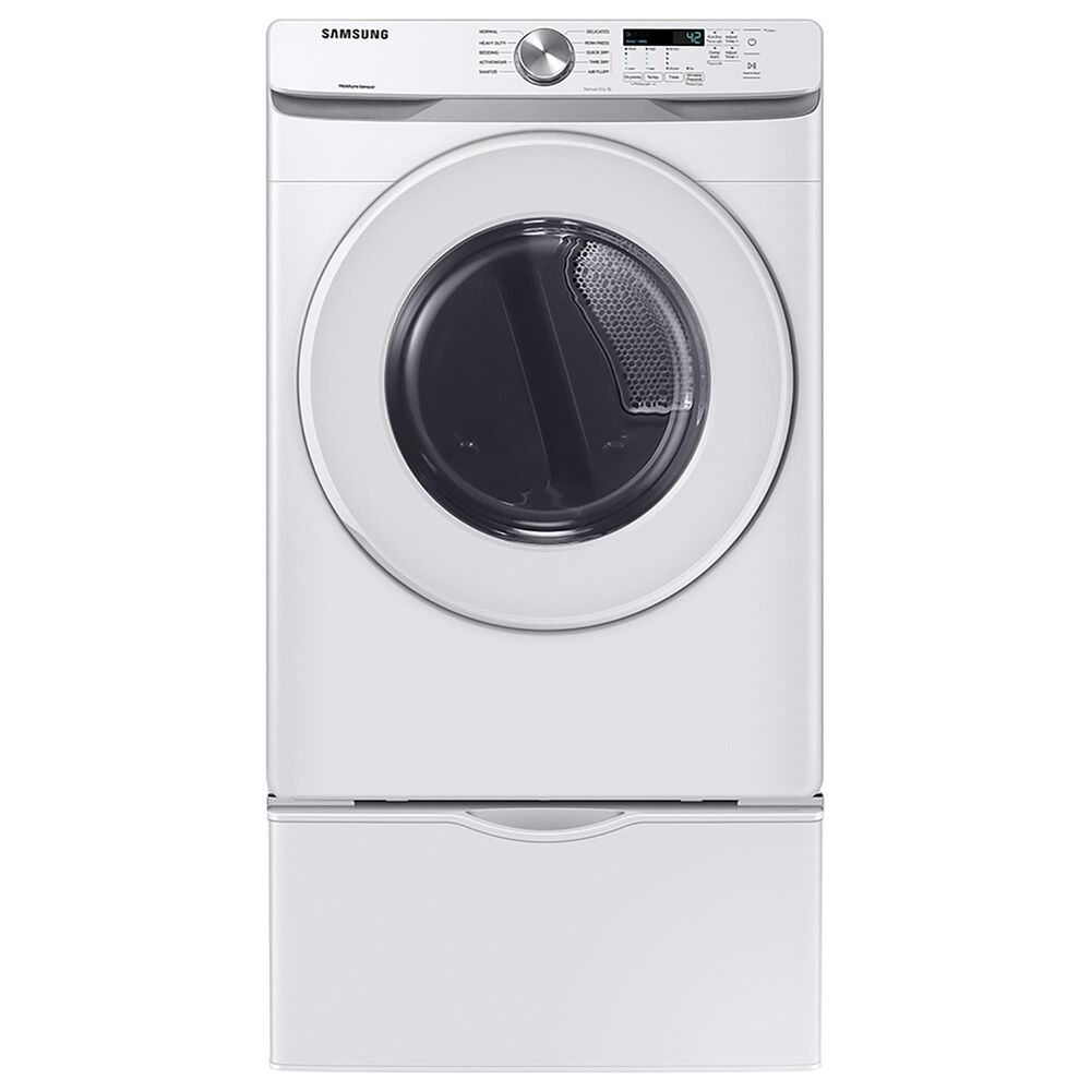Samsung 7.5 Cu. Ft. Electric Dryer with Sensor Dry and Smart Care in White, , large