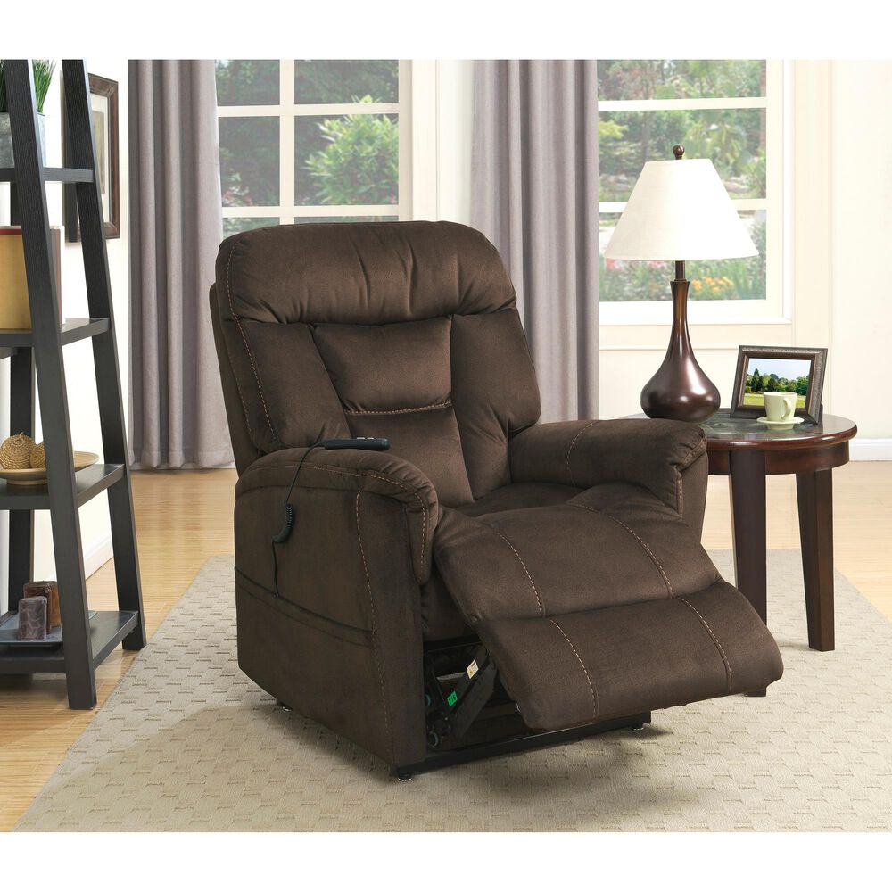 Accentric Approach Lift Chair in Brown, , large
