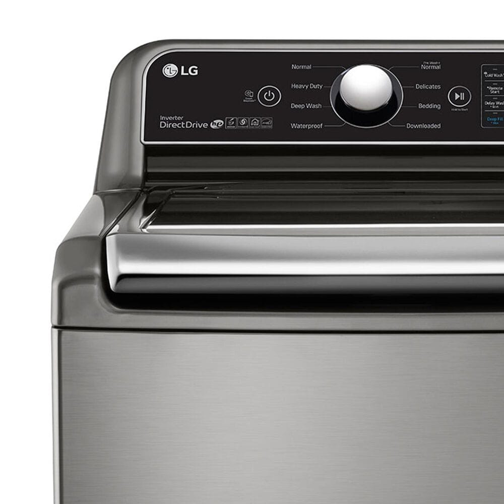 LG 4.8 Cu. Ft. Top Load Washer with Agitator and TurboWash3D Technology in Graphite Steel, , large