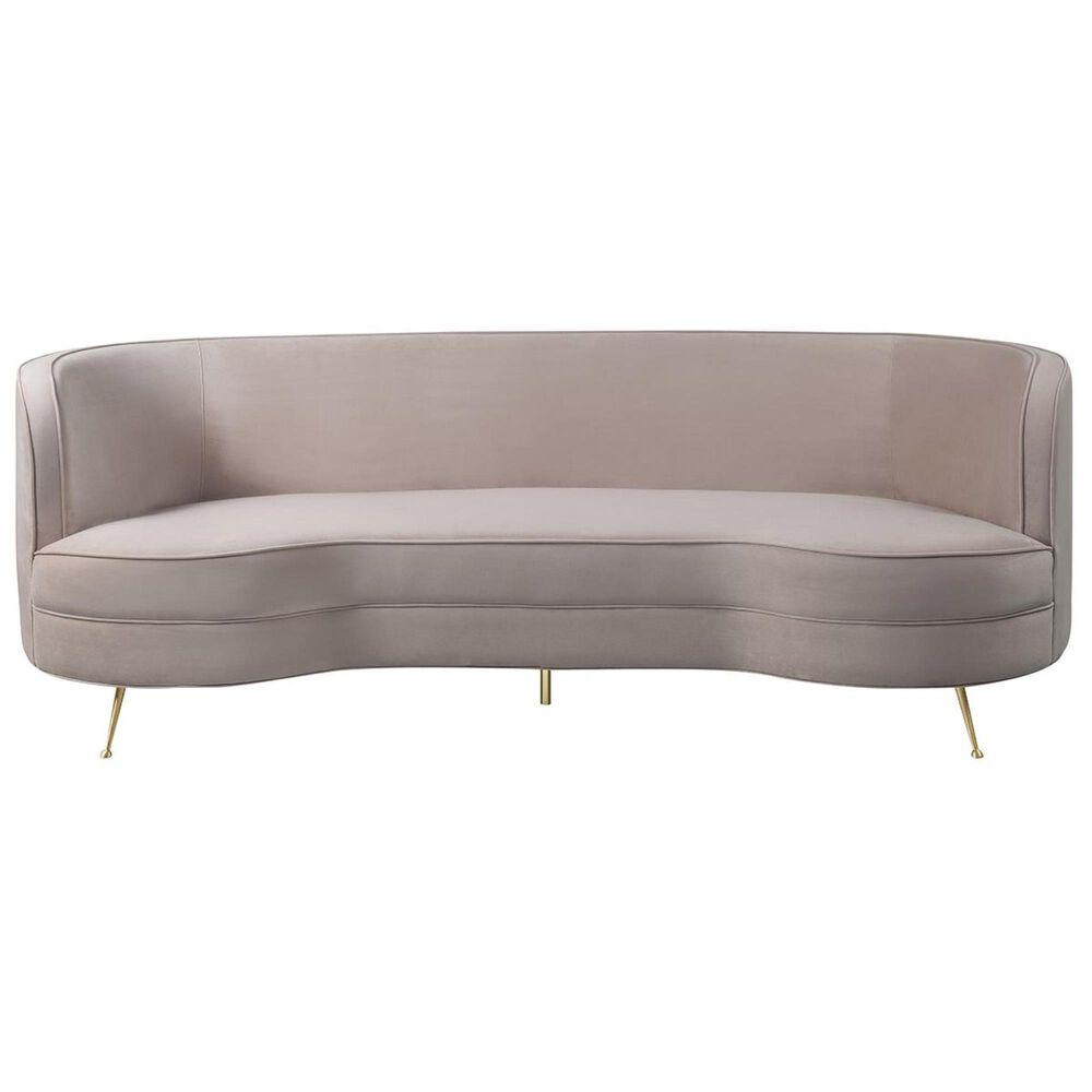Tov Furniture Flare Velvet Sofa in Blush, , large
