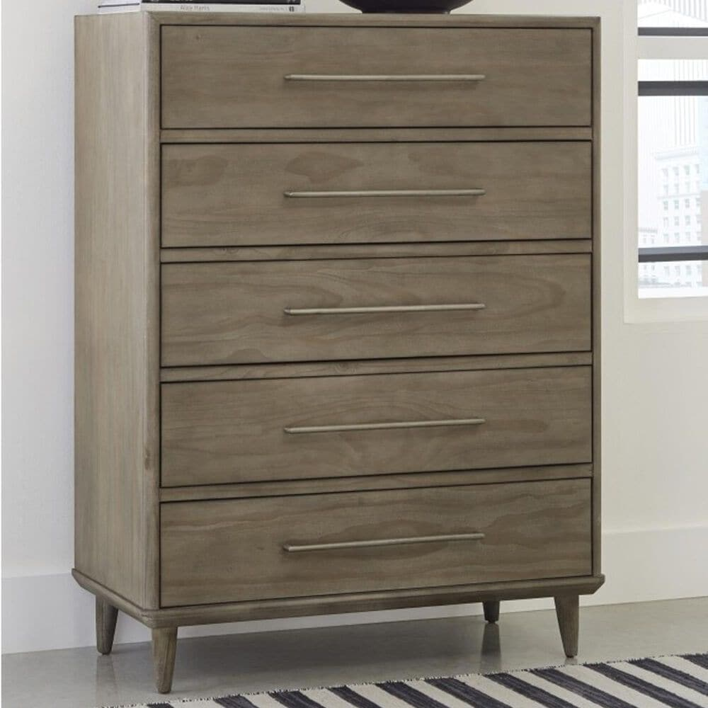 Urban Home Spindle 5 Drawer Chest in Sandstone, , large