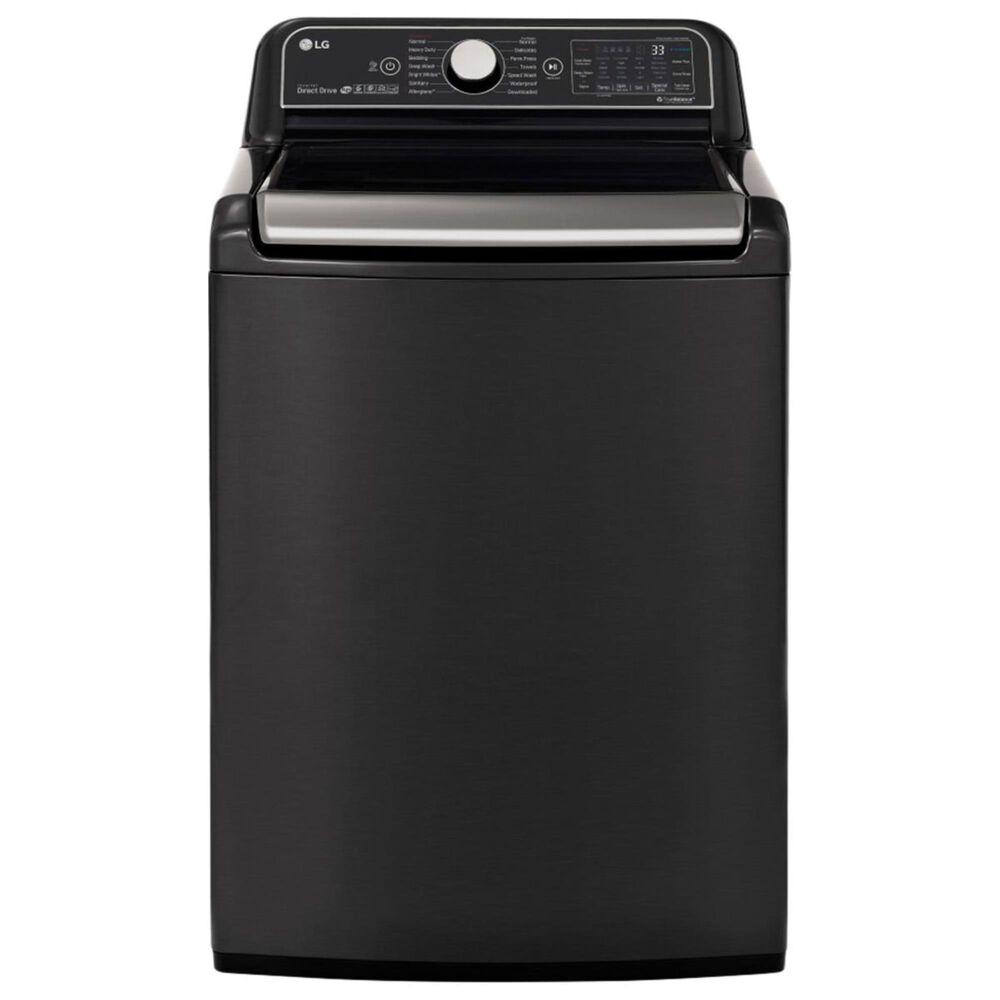 LG 5.5 Cu. Ft. Top Load Washer - Black Steel, , large