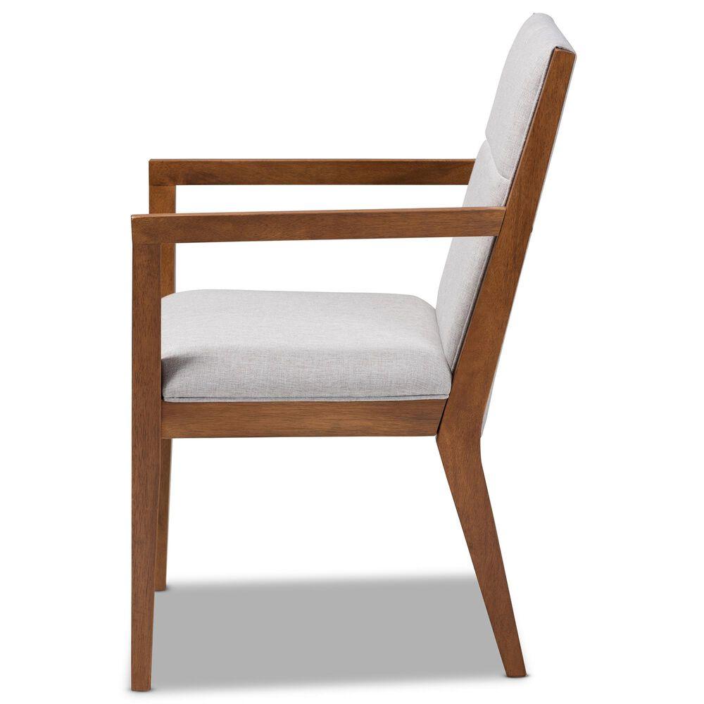 Baxton Studio Theresa Accent Chair in Greyish Beige/Walnut Brown, , large