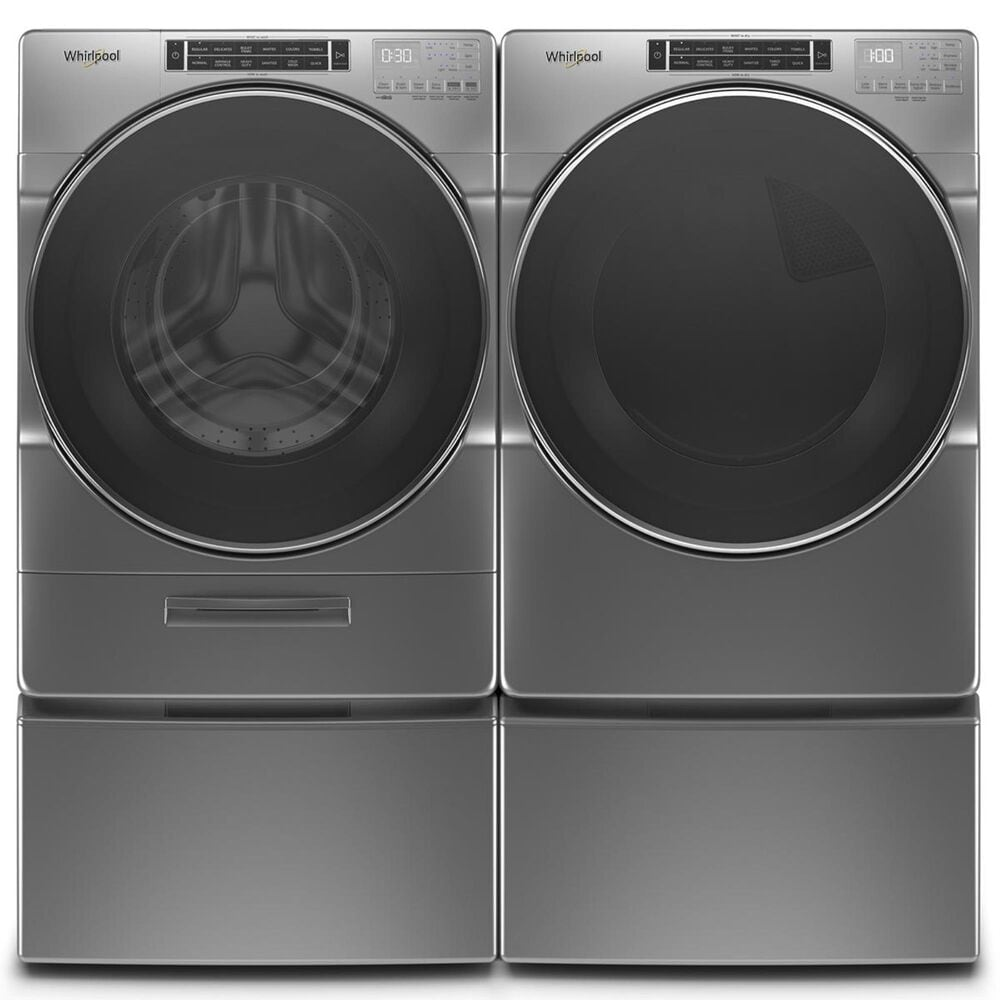 Whirlpool 7.4 Cu. Ft. Gas Dryer with Steam in Chrome Shadow, , large