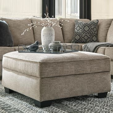 Signature Design by Ashley Bovarian Storage Ottoman in Stone, , large
