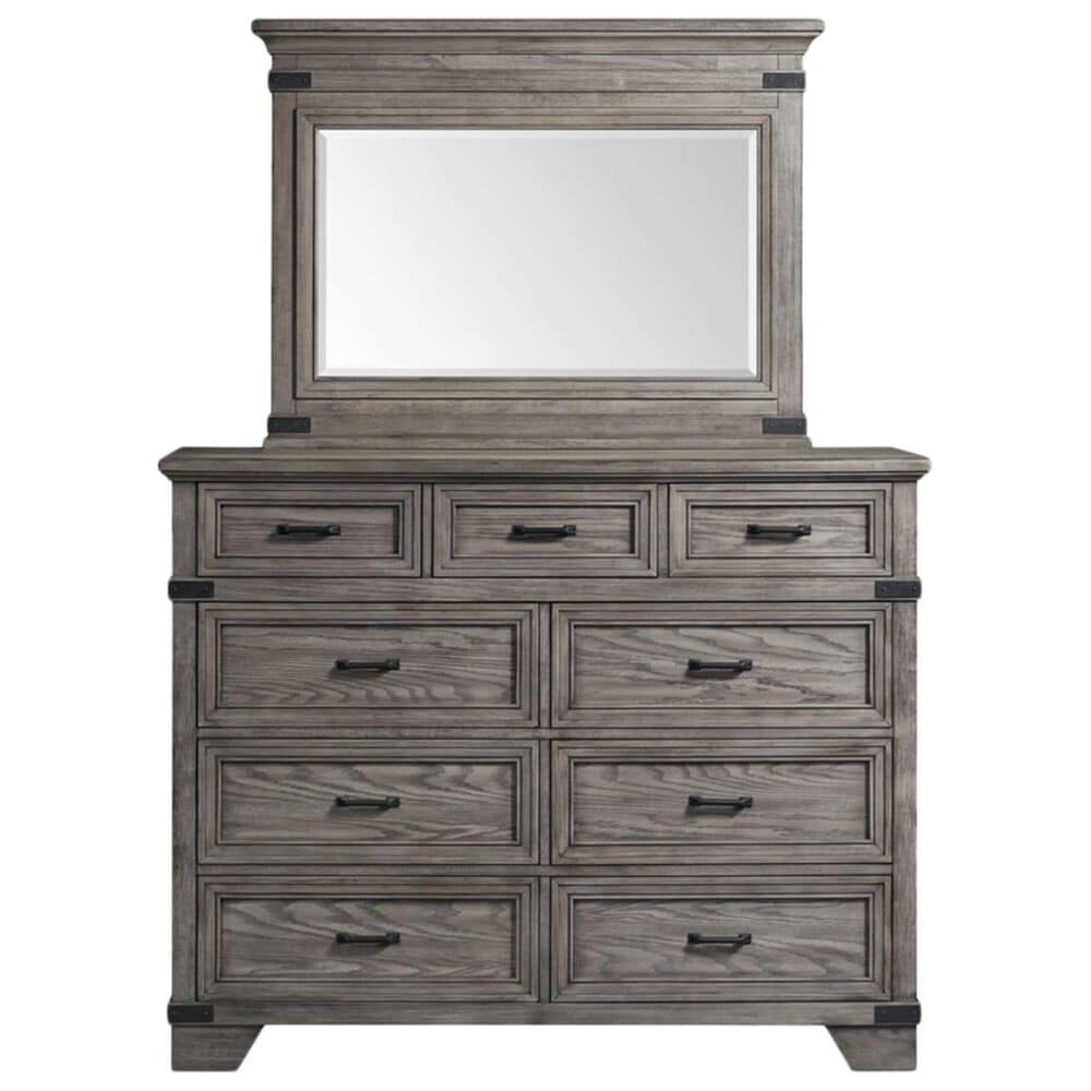 Hawthorne Furniture Forge 9 Drawer Tall Dresser Only in Pewter, , large