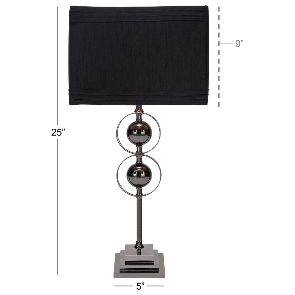 Maple and Jade Contemporary Modern Metal Table Lamp in Black (Set of 2), , large