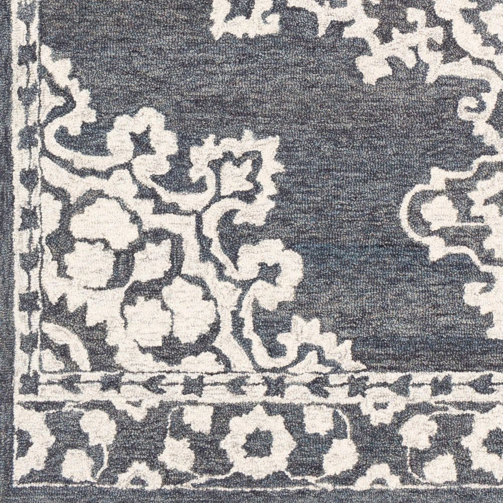 Surya Granada GND-2309 4' x 6' Charcoal and Cream Area Rug, , large