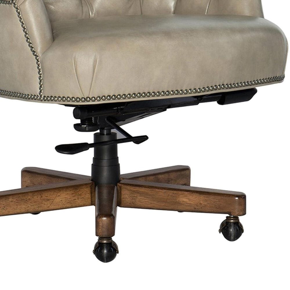 Hooker Furniture Issey Executive Swivel Tilt Chair in Bisque and Mahogany Finish, , large