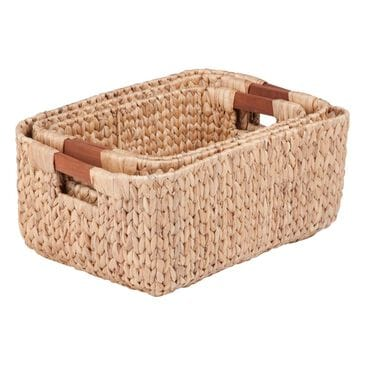 Honey Can Do 3-Piece Rectangular Banana Leaf Baskets - 3-Piece Set, , large