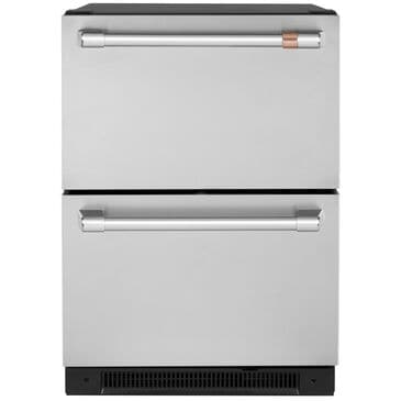 Cafe 5.7 Cu. Ft. Built-In Dual-Drawer Refrigerator in Stainless Steel and Brushed Stainless Handles , , large