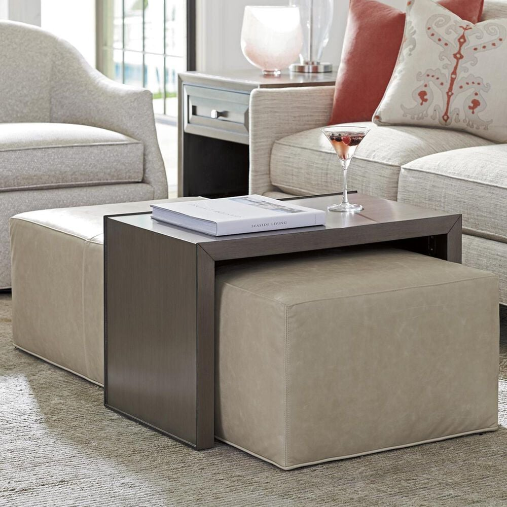 Lexington Furniture Ariana Savona Cocktail Ottoman in Taupe, , large