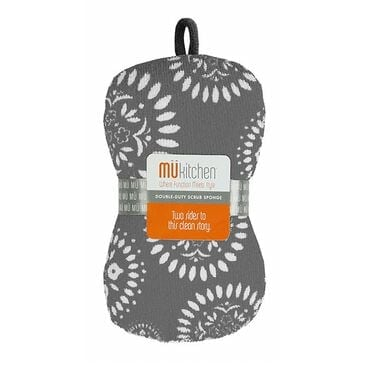 Mukitchen Double-Duty Scrub Sponge in Medallion Gray, , large
