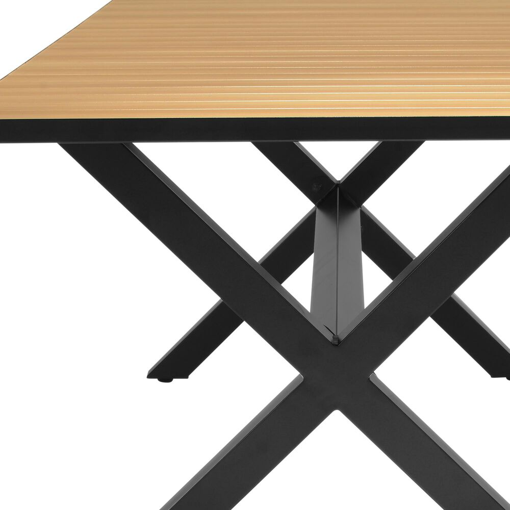 Blue River Paseo Patio Dining Table in Black, , large