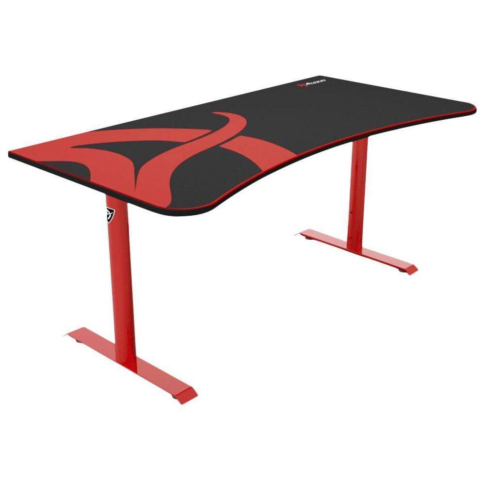 Arozzi Arena Gaming Desk in Red, , large